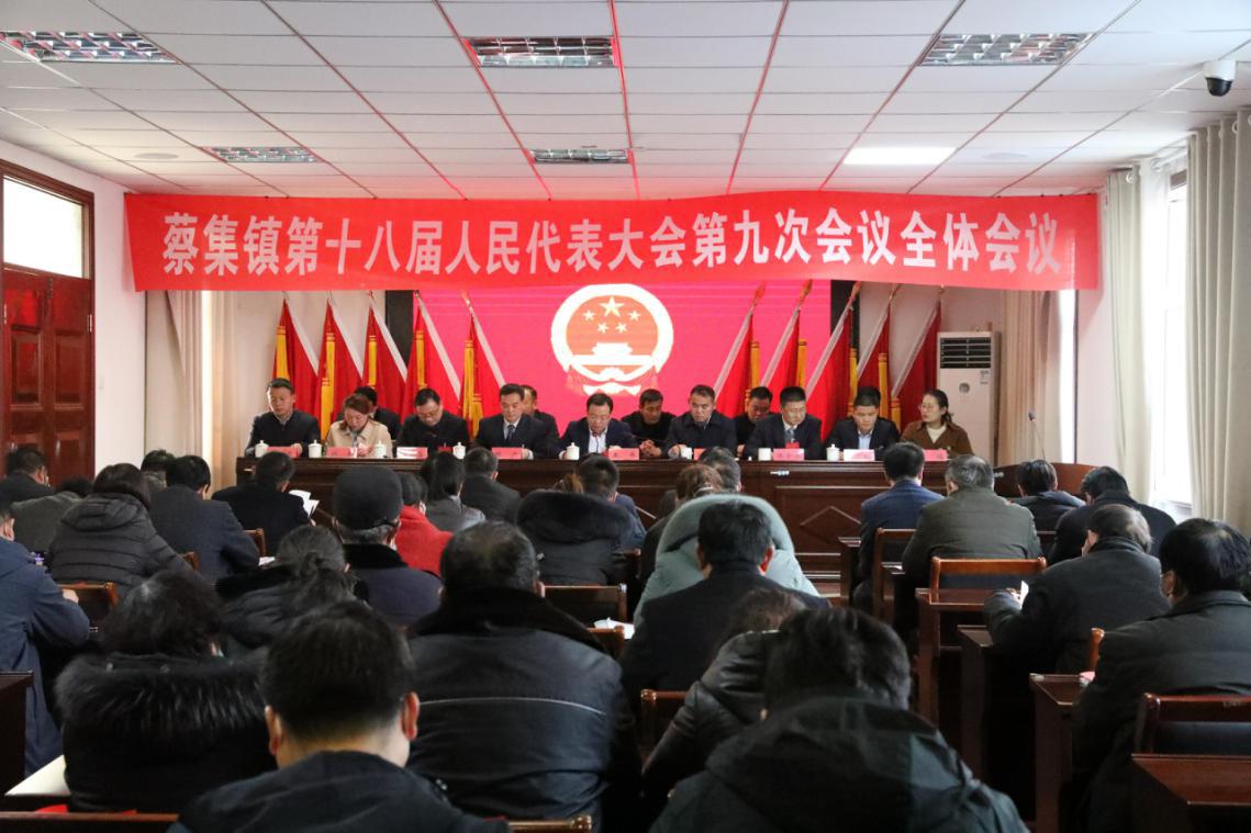蔡集镇第十八届人民代表大会第九次会议胜利召开