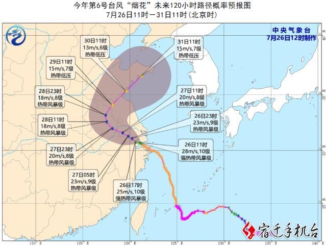 """迎战""""烟花""""(3)宿迁市发布台风蓝色预警 这些防护措施您知道吗?"""